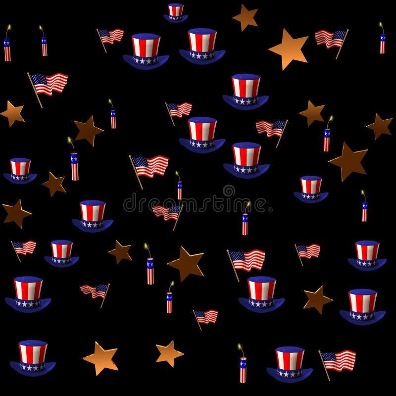 USA födelsedag royaltyfri illustrationer