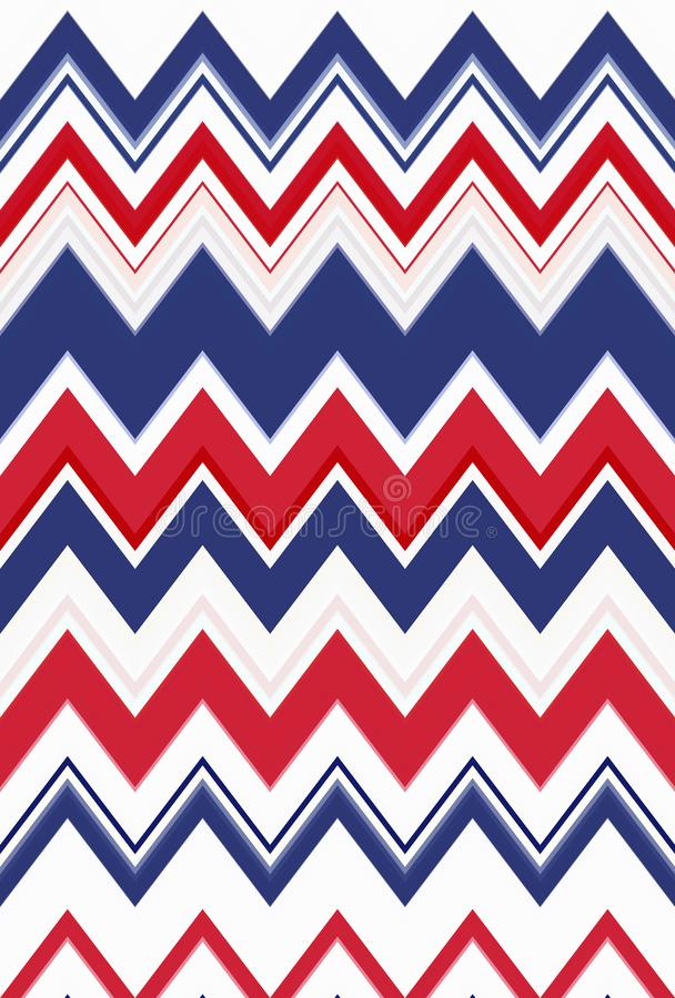 USA för färg för bakgrund för abstrakt konst för sparresicksackmodell flagga stock illustrationer