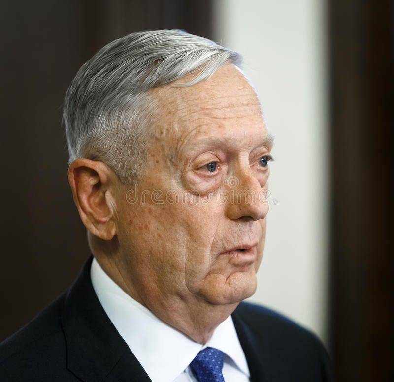 USA-försvarsminister James Norman Mattis royaltyfri foto