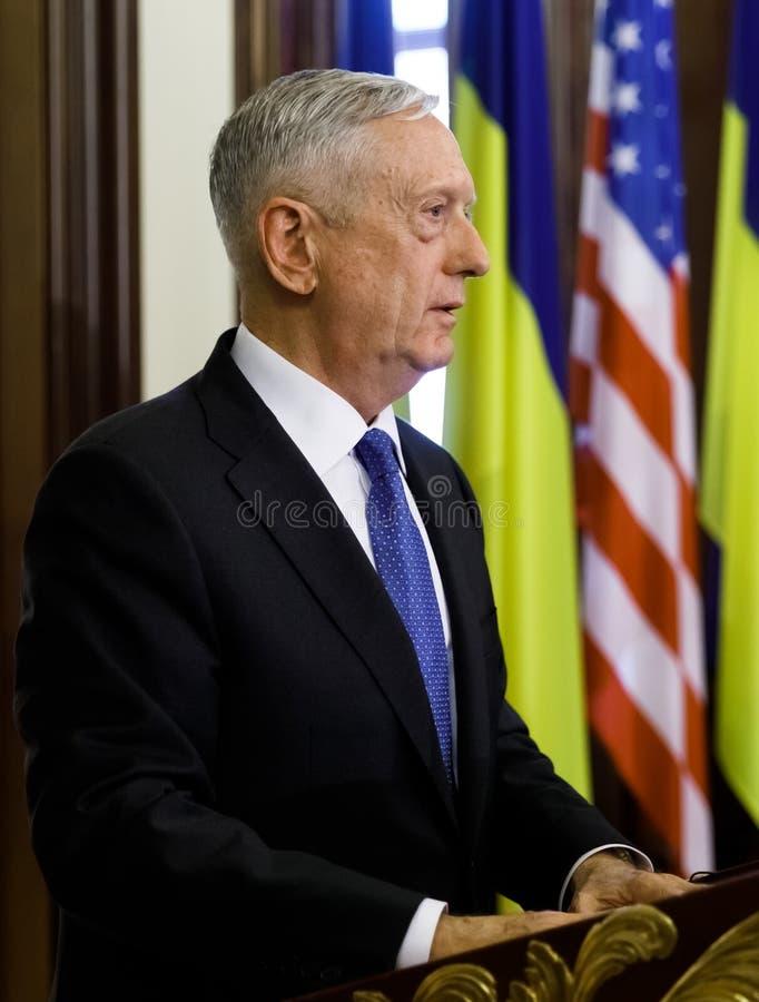 USA-försvarsminister James Norman Mattis royaltyfria foton