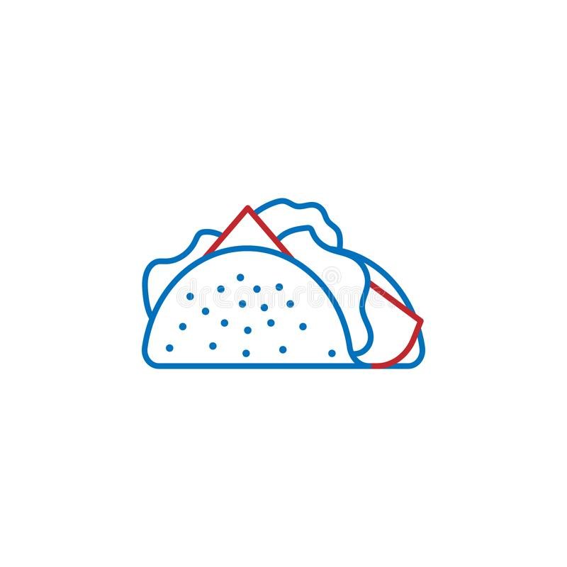 USA, fast food icon. Element of USA culture icon. Thin line icon for website design and development, app development. Premium icon. On white background stock illustration