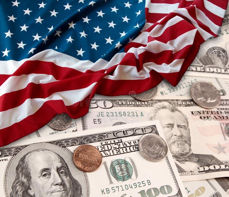 USA finance flag stock photography