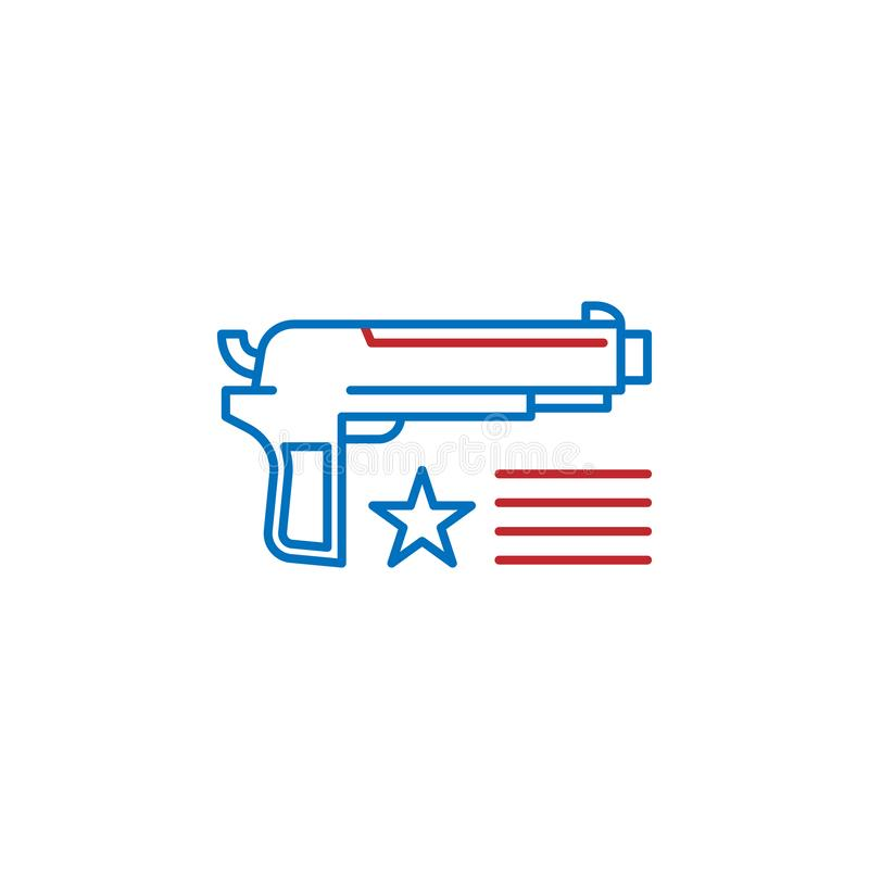 USA, firearm icon. Element of USA culture icon. Thin line icon for website design and development, app development. Premium icon royalty free illustration