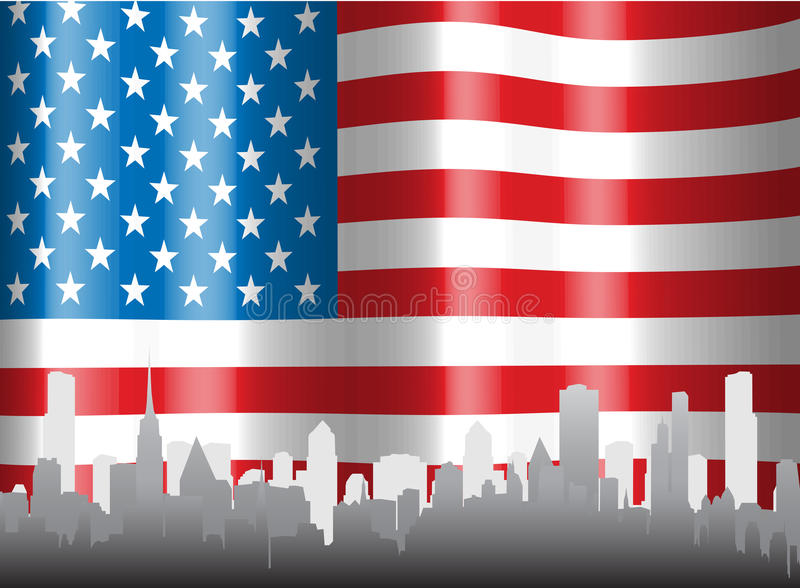 USA flag. Vector illustration of USA flag royalty free illustration