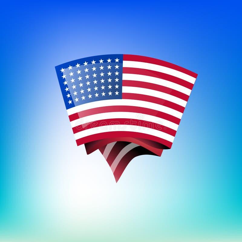 Download USA flag stock illustration. Image of democracy, shadow - 27541204