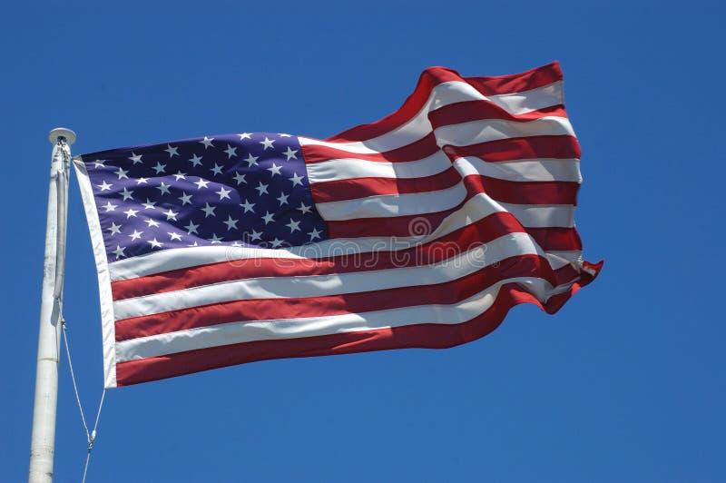 USA flag. Stars and stripes flag of the USA royalty free stock photos