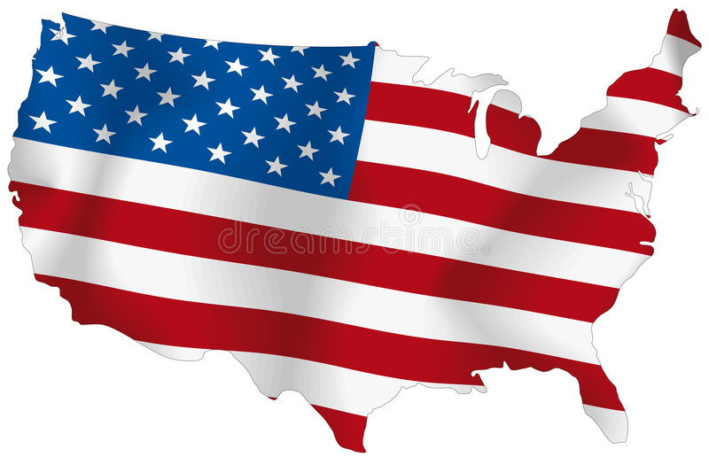 Download USA flag stock illustration. Image of flying, constitution - 6302527