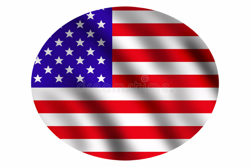 Download USA flag stock illustration. Image of wind, country, federal - 6887484