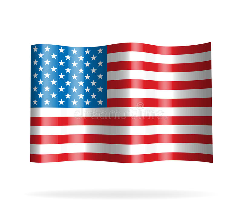 USA flag. Vector illustration of USA flag vector illustration