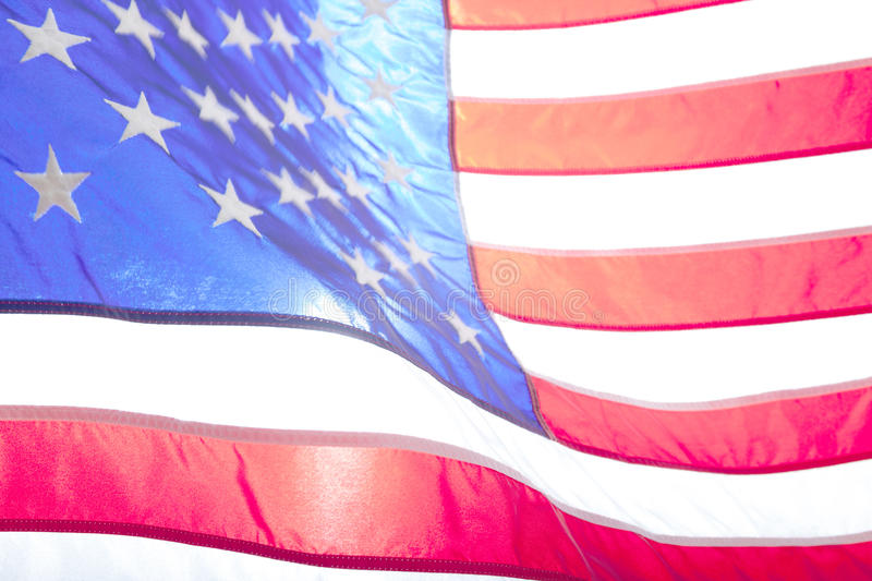 USA flag. American flag. American flag blowing wind. royalty free stock photo