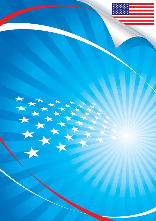 USA flag and background royalty free illustration