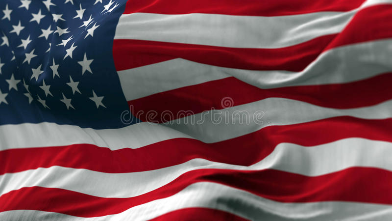 USA Flag Blowing on the Wind stock photos