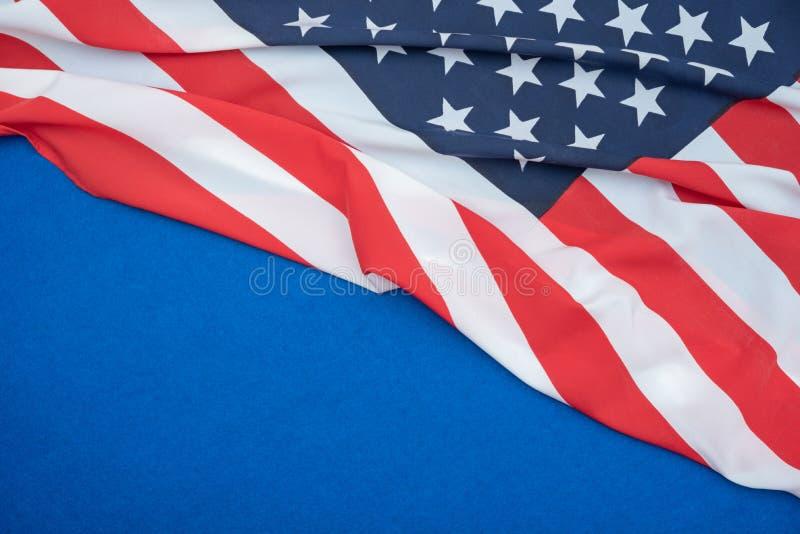 USA flag on blue background stock image