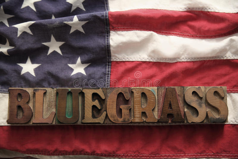 Download USA Flag With Bluegrass Word Stock Image - Image: 18810963