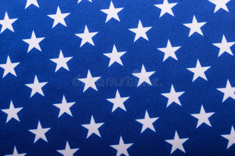 USA Flag. Close-up of the Stars on an American Flag, United States stock photo