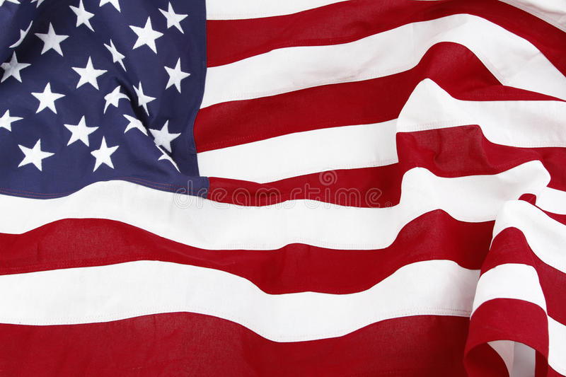 USA flag. Closeup of rippled American flag royalty free stock images
