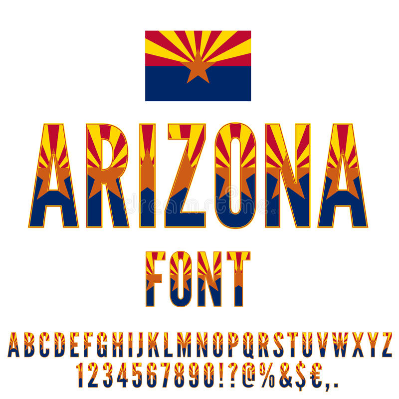 Usa Flag Font Stock Vector Illustration Of Commonwealth 81161075