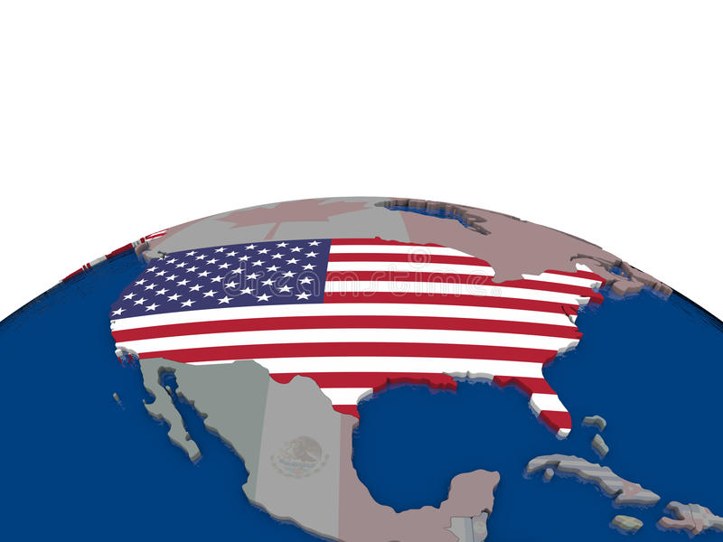 Download USA with flag stock illustration. Image of international - 83717219
