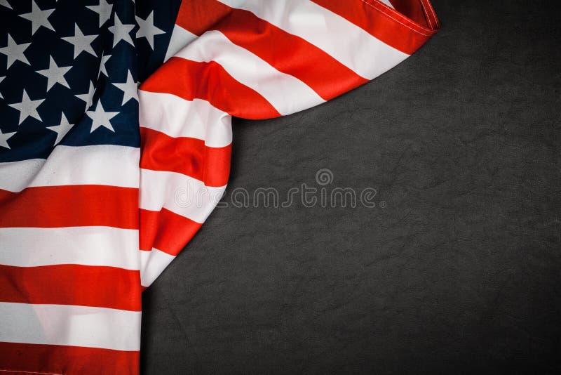 USA flag on grey background stock photos