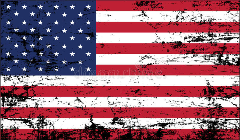 Usa flag grunge vector illustration
