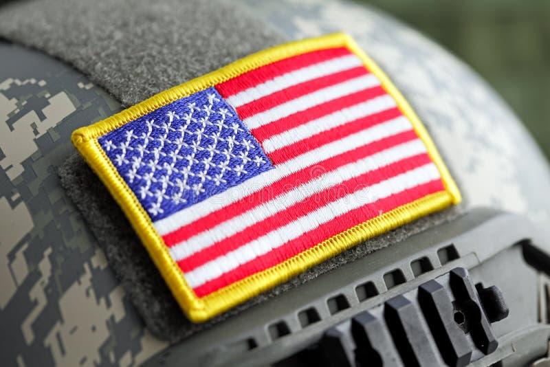 Download USA flag on helmet stock image. Image of badge, symbol - 34550913