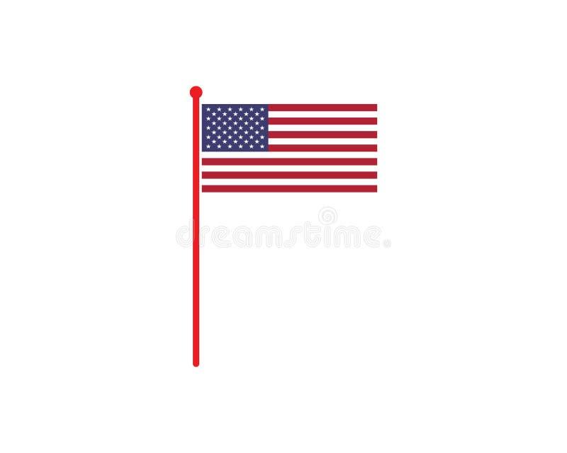 Usa flag icon logo vector. Illustration vector illustration