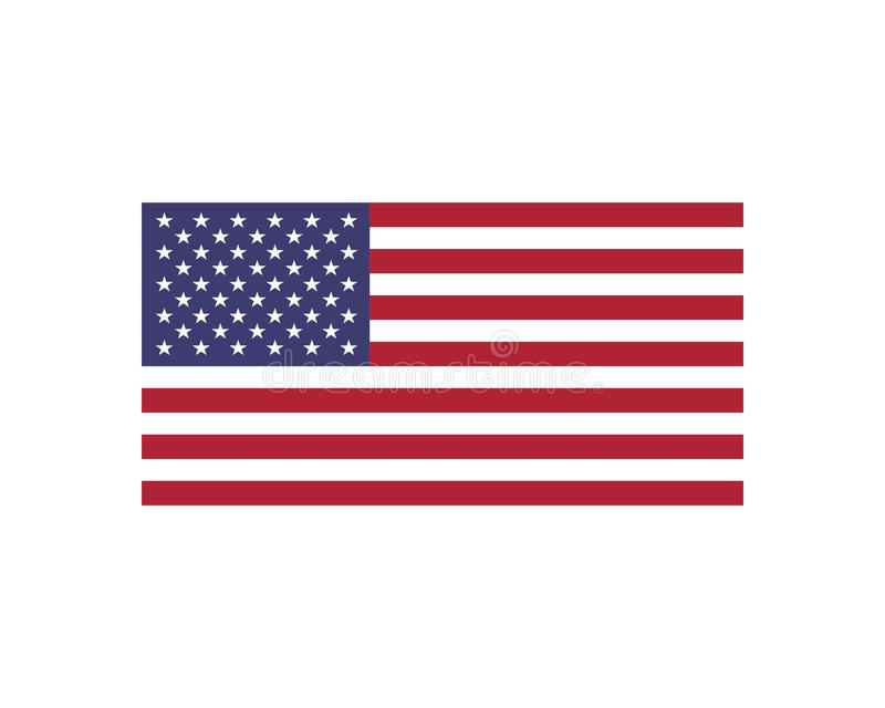 Usa flag icon vecto. R illustration stock illustration