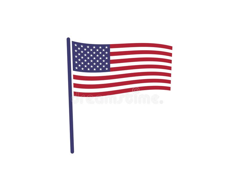 Usa flag icon vecto. R illustration vector illustration