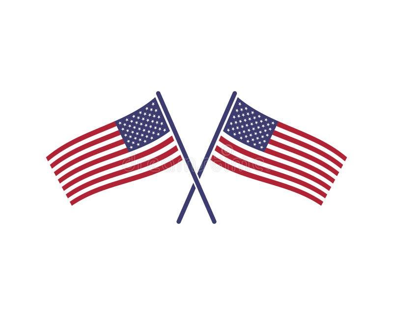 Usa flag icon vecto. R illustration royalty free illustration