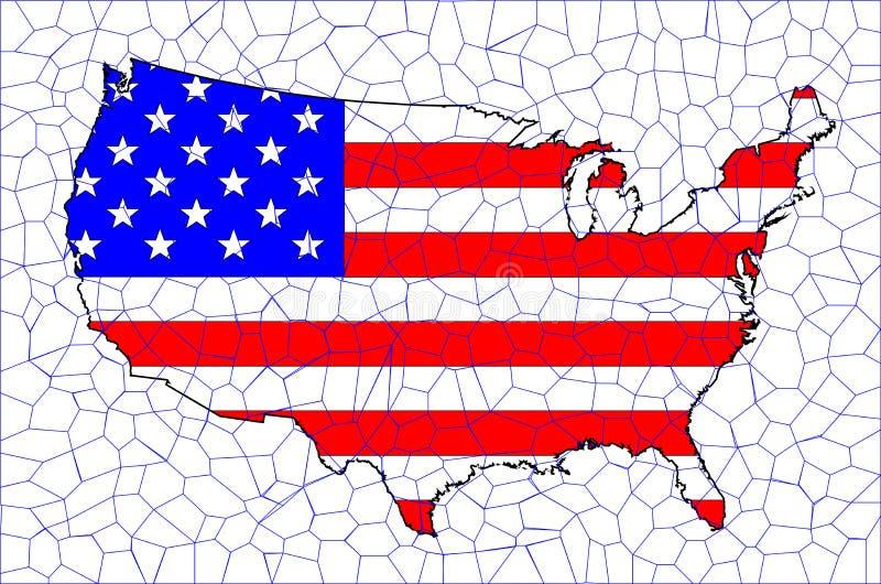 Download USA Flag Map Mosaic Stock Illustration. Illustration Of Nation    57579598