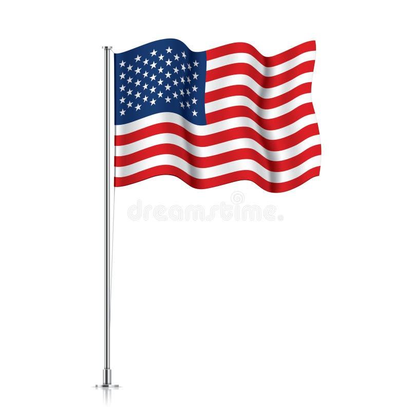 Free USA Flag On A Metallic Pole. Royalty Free Stock Photos - 174699098