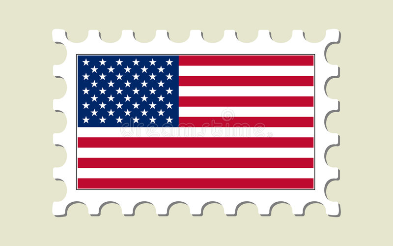 USA Flag Postage Stamp Royalty Free Stock Photography