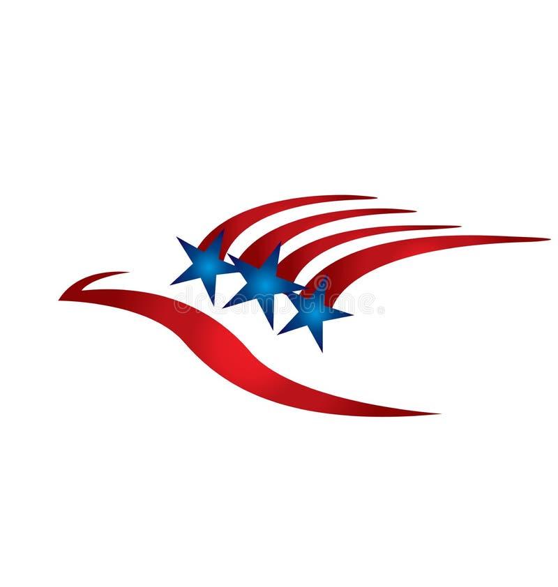 USA flag, red stripes and blue stars vector illustration
