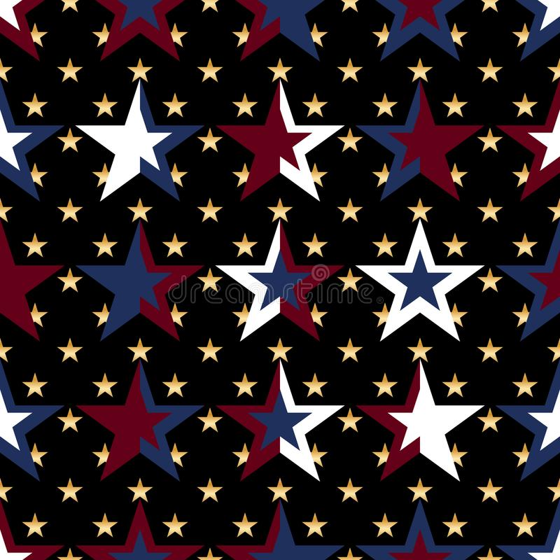 USA flag star military color seamless pattern royalty free illustration