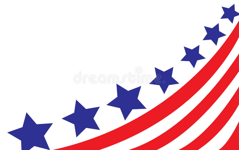 USA flag in style vector royalty free illustration