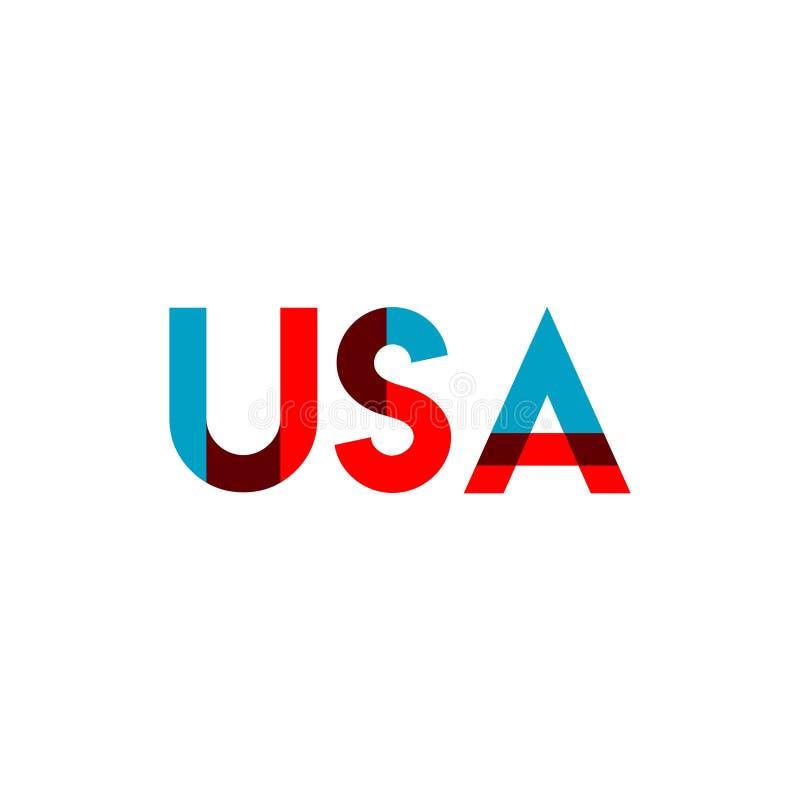 USA Vector Template Design Illustration stock illustration