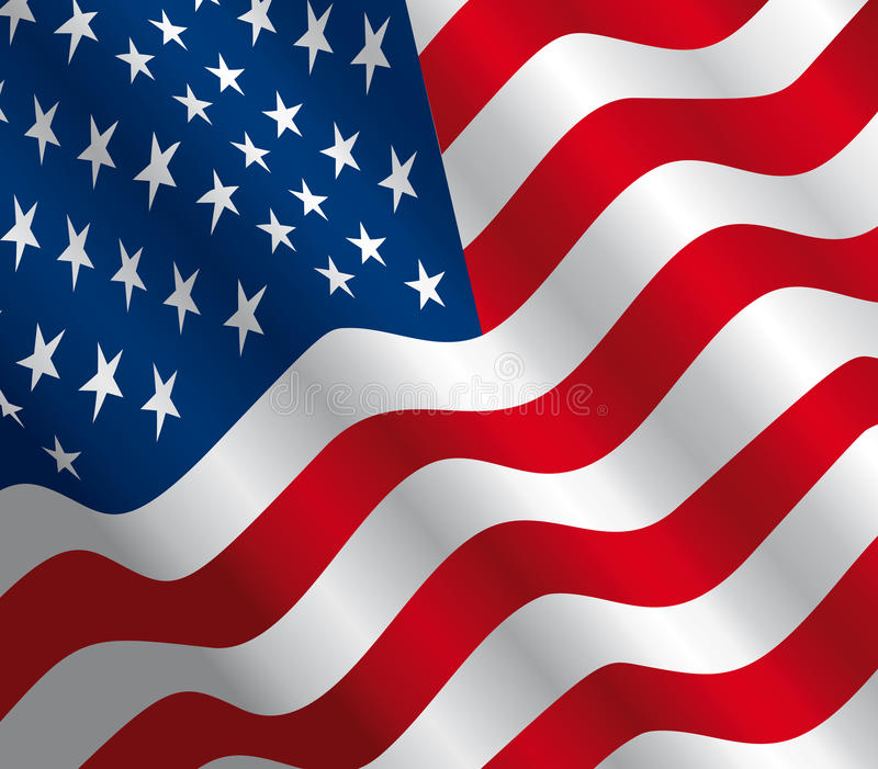 Stars and stripes - USA flag - Vector royalty free illustration
