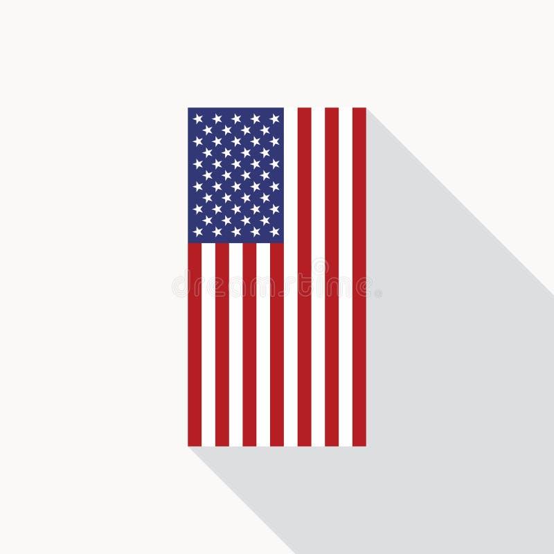 usa flag vector flat icon stock vector illustration of banner rh dreamstime com usa flag vector art free usa flag vector free