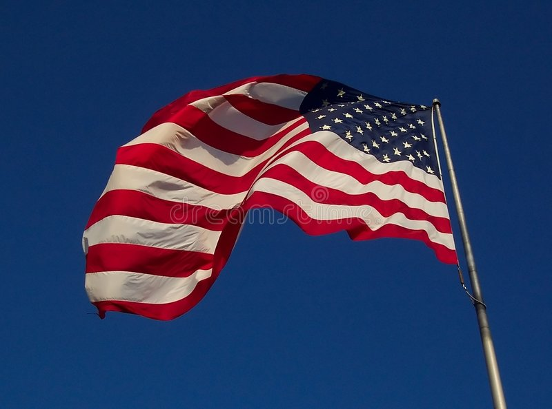 Download USA Flag - Windy Day stock image. Image of states, stars - 22173