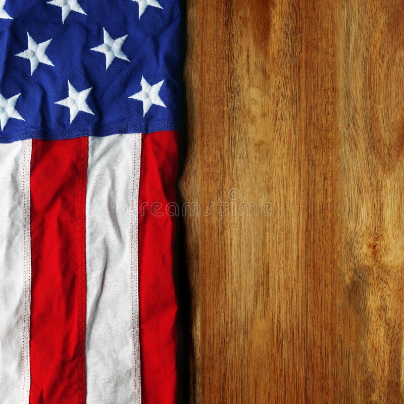 USA flag on wood royalty free stock photos
