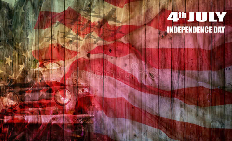 usa flag on wooden plate, background for 4th of July Independense Day royalty free stock photography