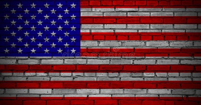 USA flaga. zdjęcie stock