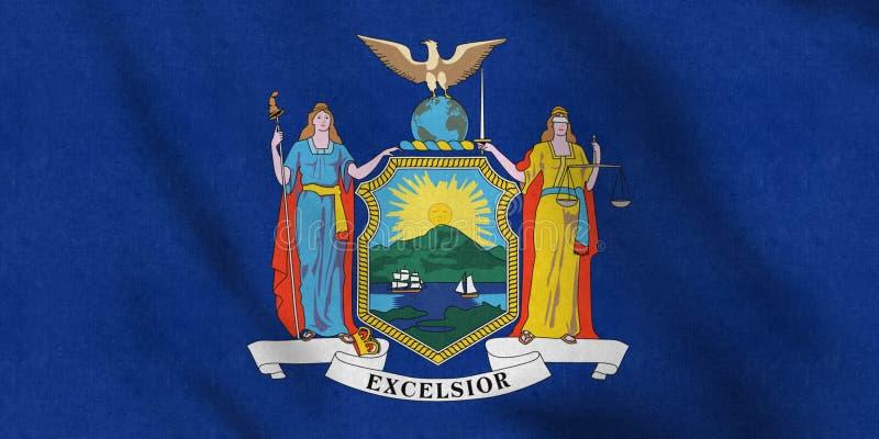 USA flaga delikatnie macha w wiatrze Nowy Jork royalty ilustracja