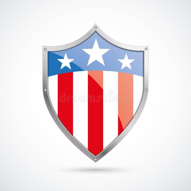 USA flaga ochrony osłona ilustracji