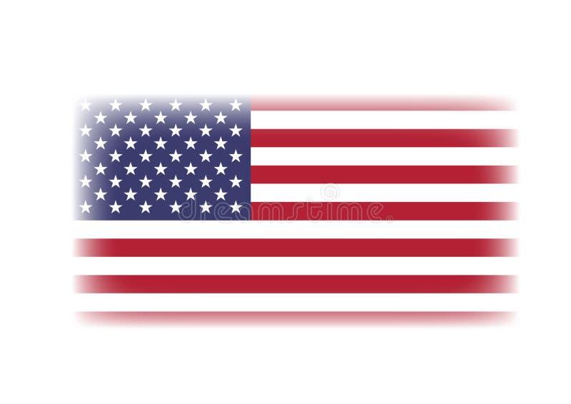 USA flaga odizolowywająca w białym tle obraz stock
