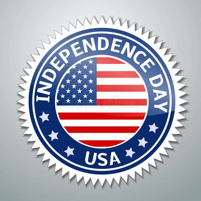 USA flagga vektor illustrationer