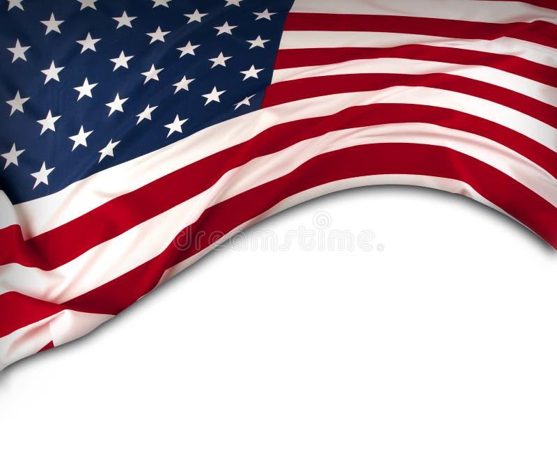 USA-flagga i vitt royaltyfria bilder