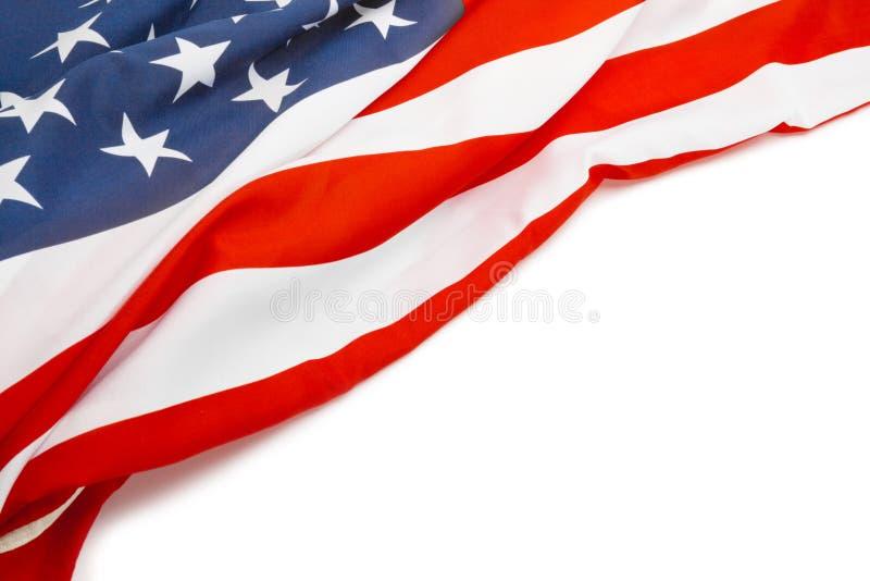 USA flagga med stället för din text - nära övre arkivfoto