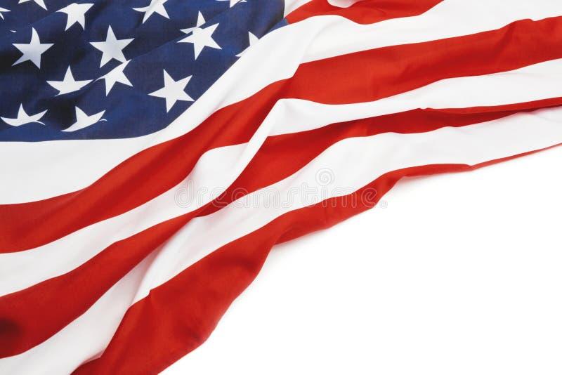 USA flagga med stället för din text - nära övre studioskott Filtrerad bild: kors bearbetad tappningeffekt royaltyfria foton