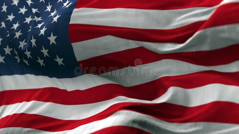 USA flagga som blåser på vinden arkivfoton